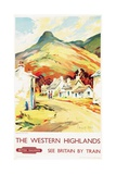 The Western Highlands, Poster Advertising British Railways, 1955 Giclee Print