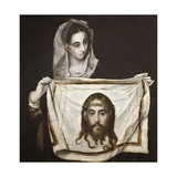 Saint Monica and Holy Face, 1584-1594 Giclee Print by El Greco