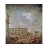 View of Quirinale and Piazza Di Monte Cavallo Giclee Print by Giovanni Paolo Pannini