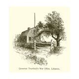 Governor Trumbull's War Office, Lebanon, Connecticut Giclee Print