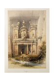 The Treasury - El Khasne, from 'The Holy Land' Series, 1842-1849 Giclee Print by David Roberts
