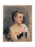 Half-Length Portrait of a Lower-Class Woman, 1870 - 1895 Giclee Print by Demetrio Cosola