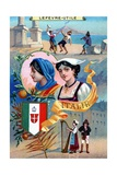 Italy, from a Series of Promotional Cards for Lefevre-Utile Giclee Print