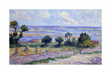 Haystacks by the Sea; Meules Au Bord De La Mer, 1914 Giclee Print by Maximilien Luce