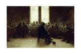 Study for the Nantucket School of Philosophy, 1876 Giclee Print by Eastman Johnson