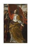 St Ursula and the Virgins, 1622-1623 Giclée-tryk af Giovanni Lanfranco