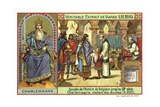 Charlemagne, King of the Franks, Visiting a School, 800 Giclee Print