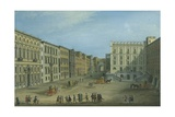 St Mary of Constantinople Street, Naples, Ca 1759 Giclée-tryk af Antonio Joli