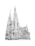 St Patrick's Cathedral, Fifth Avenue, New York, 2010 Giclee Print by Anthony Butera