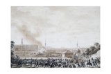 French Attack on City of Weimar, October 14, 1806 Giclee Print by Benjamin Zix