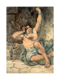 Sketch to Illustrate the Passions - Agony - Raving Madness, 1854 Giclee Print by Richard Dadd