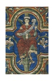 Abraham, Detail from the Painted Wooden Ceiling, Church of St Michael Giclee Print