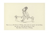 There Was an Old Person of Woking, Whose Mind Was Perverse and Provoking Giclée-Druck von Edward Lear