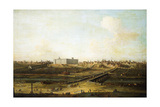Madrid and the Palacio Real from the West Bank of the Manzanares, 1752-53 Giclée-tryk af Antonio Joli