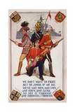 British Empire Soldiers in WW1 Propaganda Postcard Giclee Print