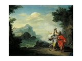 Athena Revealing Ithaca to Ulysses Giclee Print by Giuseppe Bottani