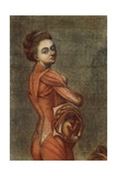 Anatomical Illustration in Colour of a Pregnant Female, 1778 Giclee Print by Jacques-Fabien Gautier d'Agoty