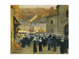 The Market at Pont-Aven; Le Marche a Pont-Aven, 1886 Giclee Print by Emile Bernard