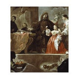 Homage to Velazquez for Count of Santiesteban, 1692-1700 Lámina giclée por Luca Giordano
