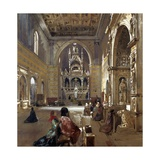 Interior of San Giovanni a Carbonara Church, 1867 Giclee Print by Giacinto Gigante