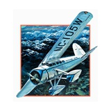 Wiley Hardemann Post Flying Winnie May Solo Round the World Giclee Print by Graham Coton