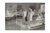 Visit of Franz Joseph of Austria to a Military Hospital in Vienna Giclee Print by Wilhelm Gause