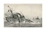 The Sinking of H. M. S. Victoria after Collision with H. M. S. Camperdown Giclee Print by William Lionel Wyllie