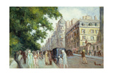 Street Scene in Paris; Scene De Rue a Paris, 1935-37 Giclee Print by Maximilien Luce