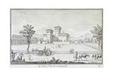 Villa Medici at Cafaggiolo in Barberino Di Mugello Giclee Print by Giuseppe Zocchi
