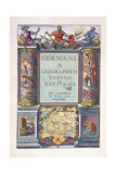 Title Page to Part 2, 'Germania Geographicus Tabulis Illustrata' , 1593 Giclee Print by Gerard De Jode