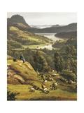 View of Lysenkloster Near Bergen Giclee Print by Johan Christian Clausen Dahl