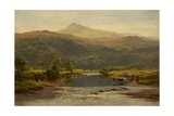 Scene on the Llugwy with Moel Siabod in the Distance, 1870 Giclee Print by Benjamin Williams Leader