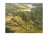 View of Lysenkloster Near Bergen Giclee Print by Johan Christian Clausen Dahl