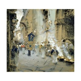 Procession on Good Friday, 1895 Giclee Print by Francesco Paolo Michetti