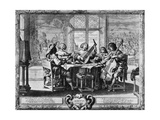 The Five Senses, Hearing Allegory, Etching Giclee Print by Abraham Bosse