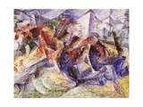 Horse, Rider and Buildings, 1914 Giclee Print by Umberto Boccioni