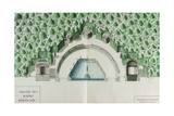 Ms 1307/52 Design for the Baths of Apollo at Versailles Giclee Print by Andre Le Notre