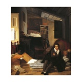 Self-Portrait in the Attic, 1807 Giclee Print by Tommaso Minardi