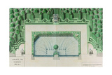 Ms 1307/47 Design for a Water Garden at Versailles Giclee Print by Andre Le Notre