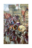 Edward V Rides into London with Duke Richard, 1483 Giclee Print by Charles John De Lacy
