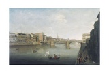 View of Florence at Sunset from Carraia Bridge Giclee Print by Thomas Patch