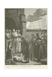 St Bruno Refusing the Gifts of the Count of Calabria Giclee Print by Jean Paul Laurens