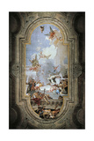 St Dominic Instituting the Rosary Giclee Print by Giambattista Tiepolo