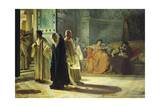 Deposition of Pope Silverio, 537 Giclee Print by Cesare Maccari