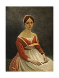 Portrait of Young Woman Giclee Print by Jean-Baptiste-Camille Corot