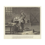 Laurence Saunders the Martyr Bidding Farewell to His Child Giclee Print by Charles West Cope