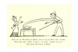 There Was an Old Person of Blythe, Who Cut Up His Meat with a Scythe Giclee Print by Edward Lear