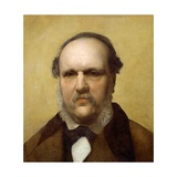 Portrait of Antonio Tommasi, Half Bust Giclee Print by Antonio Ciseri