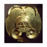 Gold Breastplate with a Central Mask with Gold Nose Rings Giclee Print