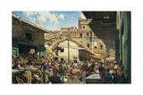 Old Market in Florence, 1882-1883 Reproduction procédé giclée par Telemaco Signorini